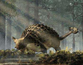 An illustration of the Ankylosaurus, which was an Ornithischia dinosaur