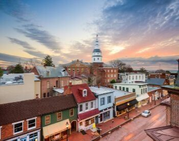 A picture of Annapolis, the capital city of Maryland, USA