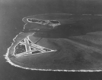 A photo of the Midway Atoll prior to the Battle of Midway