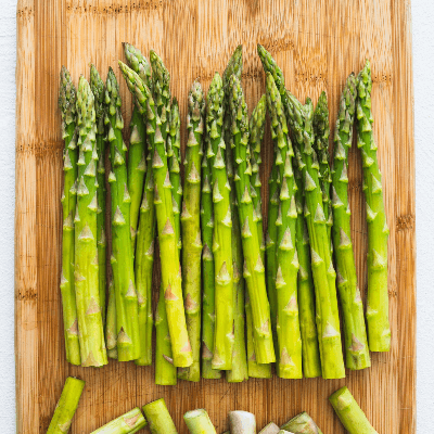 A Picture of Asparagus on a Board