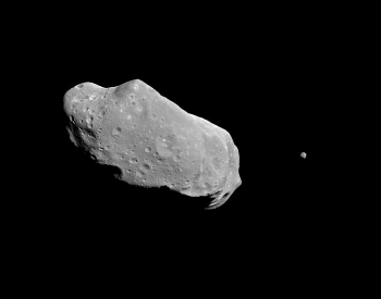 A picture of the asteroid 243 ida