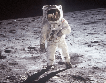 A photo of NASA Astronaut Neil Armstrong on the moon