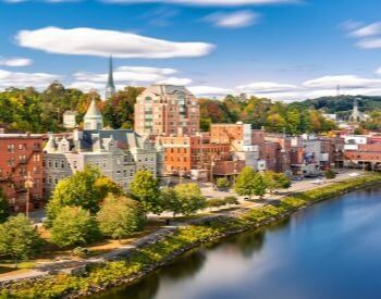 A picture of Maine, the capital city of Maine, USA