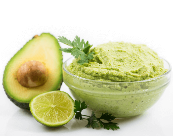 A picture of avocados and guacamole