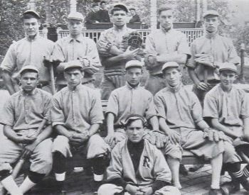 A picture of Babe Ruth and his entire school baseball team