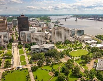 A picture of Baton Rouge, the capital city of Louisiana, USA