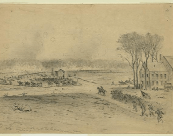 An illustration of the Battle of Chancellorsville