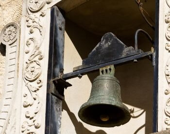 A picture of the Alamo's bell