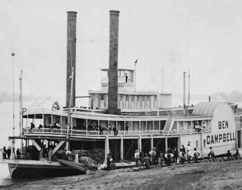 A picture of a Ben Campbell steamboat