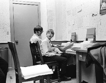 A picture of Bill Gates (right) in High School