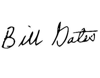 A picture of Bill Gates official signature