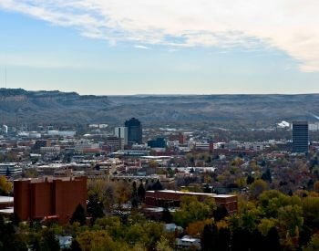 A picture of Billings, the largest city in Montana
