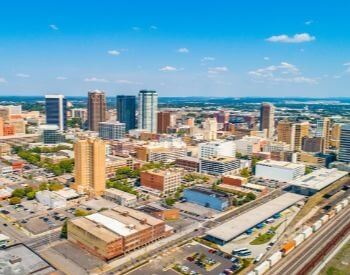 A picture of Birmingham, the most populated city in Alabama