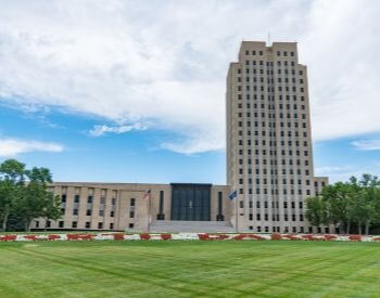 A picture of Bismarck, the capital city of North Dakota