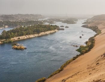 A picture of a boat sailing on the Nile River