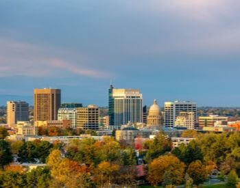A picture of Boise, ID the state capital of Idaho