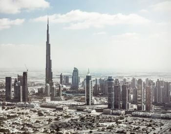 A picture of Burj Khalifa and the Dubai skyline
