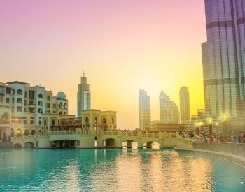 A picture of the Burj Khalifa lake by Burj Khalifa