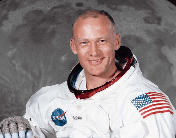 A photo of Buzz Aldrin, the second man on the moon
