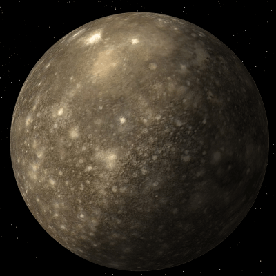 A Picture of Jupiter's Moon Callisto