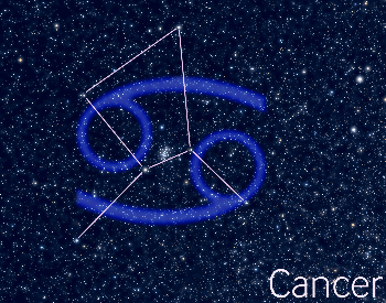 A diagram of the Cancer star constellation