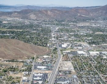 A picture of Carson City, the capital city of Nevada