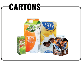 A picture showing what cartons and containers you can recycle