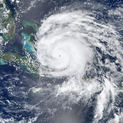 A Picture of a Category 2 Hurricane