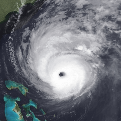 A Photo of a Category 4 Hurricane