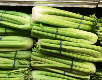 A picture of celery at the grocery store