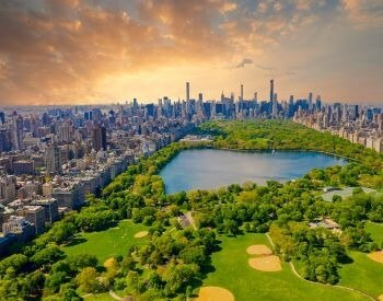 A picture of Central Park in New York City, NY, USA