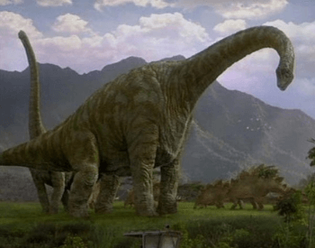 CGI replica of a Brachiosaurus
