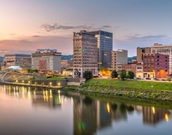 A picture of Charleston, the capital city of West Virginia