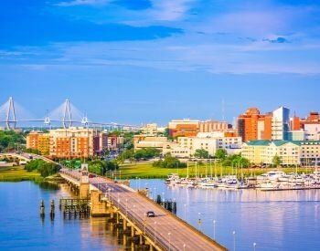 A picture of Charleston, the most populated city in South Carolina