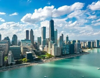 A picture of Chicago, the most populated city in Illinois