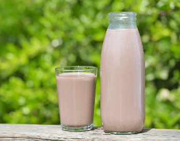 A picture of chocolate milk