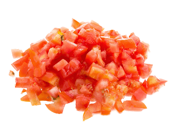 A picture of chopped tomatoes