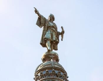 Christopher Columbus Monument in Barcelona, Catalonia, Spain