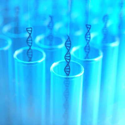 A picture of vials used to clone DNA segments.