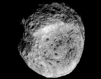 A photo of the Saturn's moon Hyperion