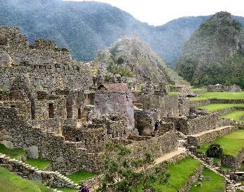 A picture of showing a close-up view of Machu Picchu