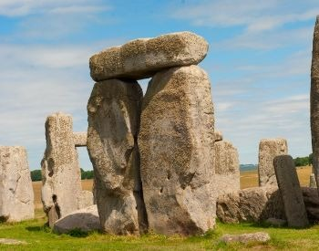 A close-up picture of Stonehenge