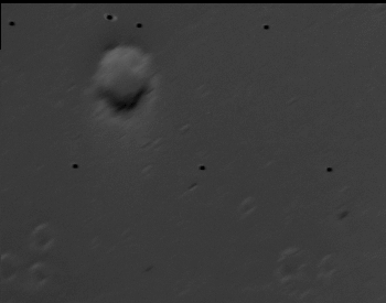 A close-up photo of the surface of the Mar's moon Deimos