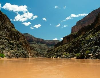 A picture of the Colorado River turned brown from rain