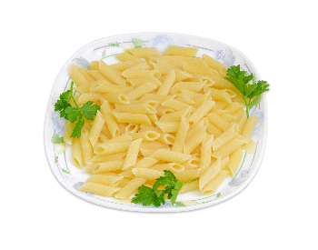 A picture of cooked mostaccioli pasta