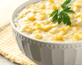 A picture of creamed corn