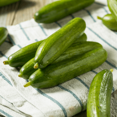A Picture of Some Cucumbers