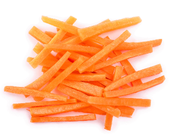 A picture of carrots that are cut up