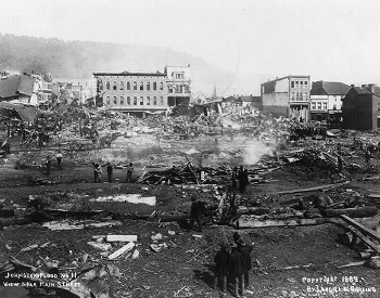 1889 Johnstown Flood Damage