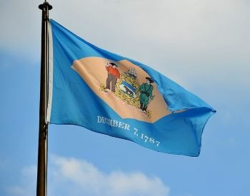 A picture of flag of the U.S. state of Delaware
